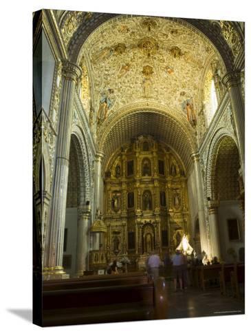 Church of Santo Domingo, Oaxaca City, Oaxaca, Mexico, North America-Robert Harding-Stretched Canvas Print