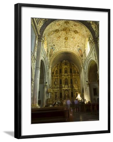 Church of Santo Domingo, Oaxaca City, Oaxaca, Mexico, North America-Robert Harding-Framed Art Print