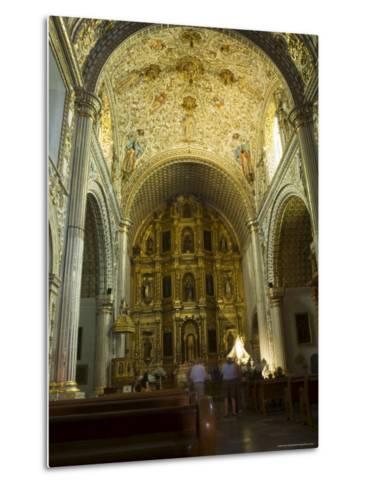 Church of Santo Domingo, Oaxaca City, Oaxaca, Mexico, North America-Robert Harding-Metal Print