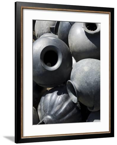 Black Pottery Typical of Oaxaca Area, Mexico, North America-Robert Harding-Framed Art Print