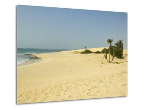 Praia De Chaves (Chaves Beach), Boa Vista, Cape Verde Islands, Atlantic, Africa-Robert Harding-Metal Print