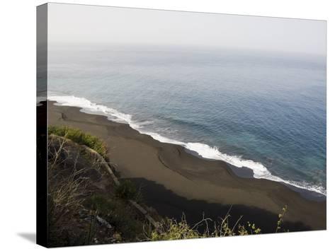Black Volcanic Sand Beach at Sao Filipe, Fogo (Fire), Cape Verde Islands, Atlantic Ocean, Africa-Robert Harding-Stretched Canvas Print