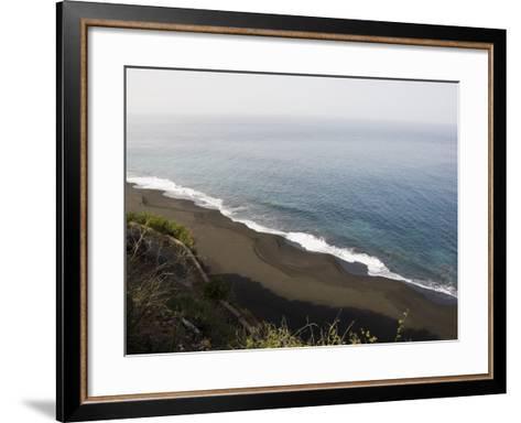 Black Volcanic Sand Beach at Sao Filipe, Fogo (Fire), Cape Verde Islands, Atlantic Ocean, Africa-Robert Harding-Framed Art Print