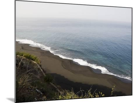 Black Volcanic Sand Beach at Sao Filipe, Fogo (Fire), Cape Verde Islands, Atlantic Ocean, Africa-Robert Harding-Mounted Photographic Print