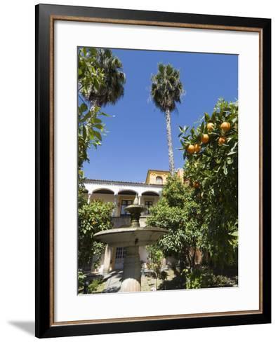 The Gardens of the Real Alcazar, Santa Cruz District, Seville, Andalusia (Andalucia), Spain, Europe-Robert Harding-Framed Art Print