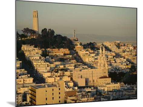 Coit Tower and Telegraph Hill at Dusk, San Francisco, California, USA-Fraser Hall-Mounted Photographic Print