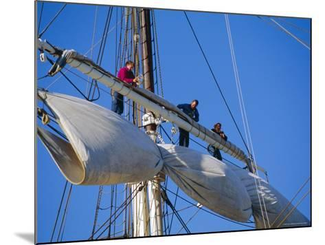 Sail Furling at the Living Maritime Museum, Mystic Seaport, Connecticut, USA-Fraser Hall-Mounted Photographic Print
