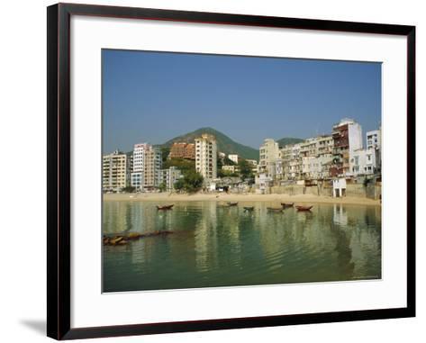 Stanley Town on the Coast, Hong Kong Island, Hong Kong, China-Fraser Hall-Framed Art Print
