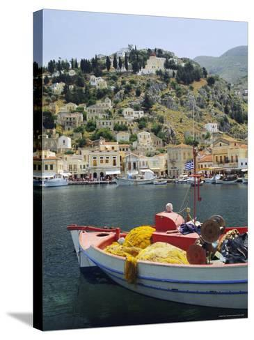 Yialos, Symi, Dodecanese Islands, Greece, Europe-Fraser Hall-Stretched Canvas Print