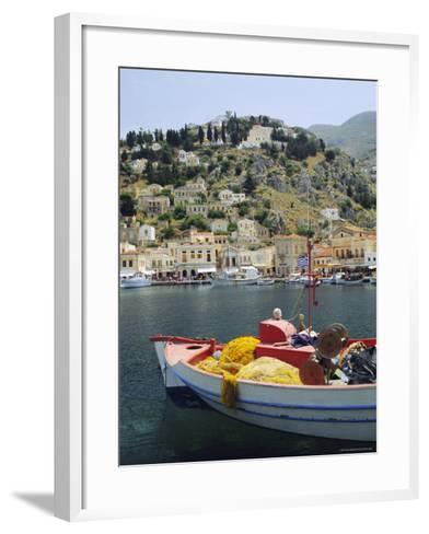 Yialos, Symi, Dodecanese Islands, Greece, Europe-Fraser Hall-Framed Art Print