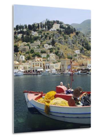 Yialos, Symi, Dodecanese Islands, Greece, Europe-Fraser Hall-Metal Print