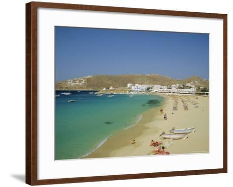 Plati Yialos Beach, Mykonos, Cyclades Islands, Greece, Europe-Fraser Hall-Framed Art Print