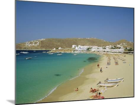 Plati Yialos Beach, Mykonos, Cyclades Islands, Greece, Europe-Fraser Hall-Mounted Photographic Print