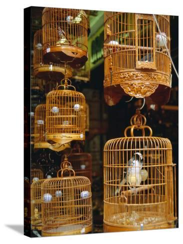 The Bird Market, Hong Lok Street, Mongkok, Kowloon, Hong Kong, China-Fraser Hall-Stretched Canvas Print