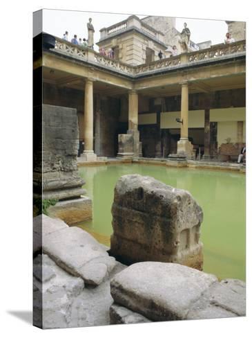 The Roman Baths, Bath, Avon, England, UK-Fraser Hall-Stretched Canvas Print