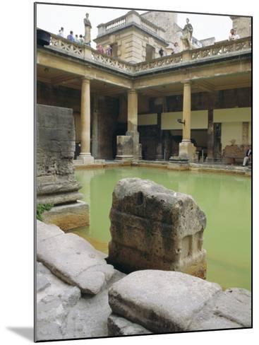 The Roman Baths, Bath, Avon, England, UK-Fraser Hall-Mounted Photographic Print