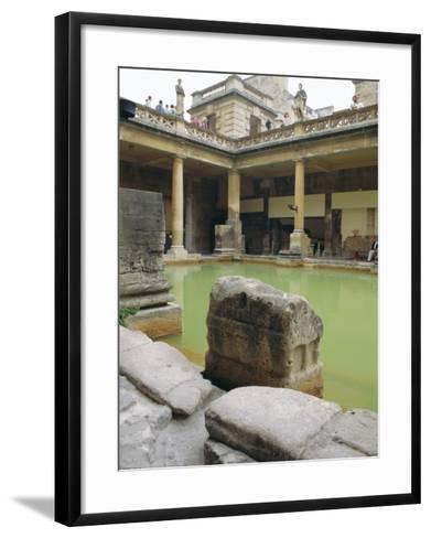 The Roman Baths, Bath, Avon, England, UK-Fraser Hall-Framed Art Print