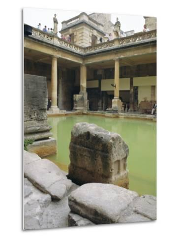 The Roman Baths, Bath, Avon, England, UK-Fraser Hall-Metal Print