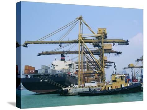 Shipping, Singapore Harbour, Singapore-Fraser Hall-Stretched Canvas Print