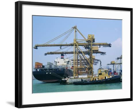 Shipping, Singapore Harbour, Singapore-Fraser Hall-Framed Art Print