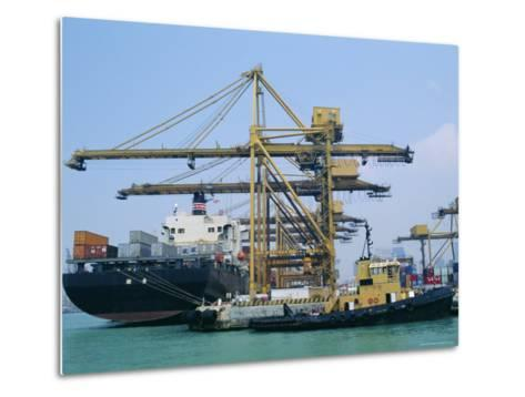 Shipping, Singapore Harbour, Singapore-Fraser Hall-Metal Print
