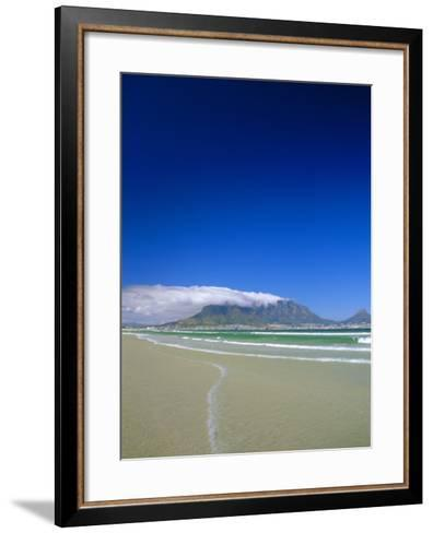 Table Mountain from Bloubergstrand, Cape Town, South Africa-Fraser Hall-Framed Art Print