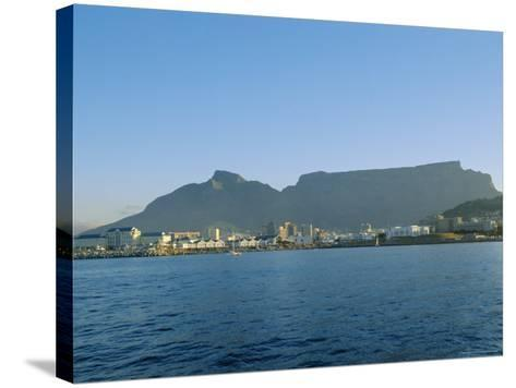 Cape Town with Table Mountain Behind, South Africa-Fraser Hall-Stretched Canvas Print