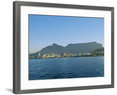 Cape Town with Table Mountain Behind, South Africa-Fraser Hall-Framed Art Print