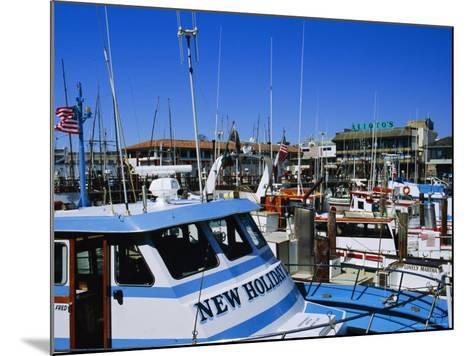 Fleet of Small Fishing Boats Around Pier 39, Fisherman's Wharf, San Francisco, California, USA-Fraser Hall-Mounted Photographic Print