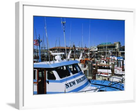 Fleet of Small Fishing Boats Around Pier 39, Fisherman's Wharf, San Francisco, California, USA-Fraser Hall-Framed Art Print