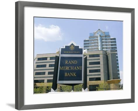 Sandton, New Financial District of Johannesburg, South Africa-Fraser Hall-Framed Art Print