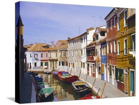 Canal in Burano, Venice, Italy-Fraser Hall-Stretched Canvas Print