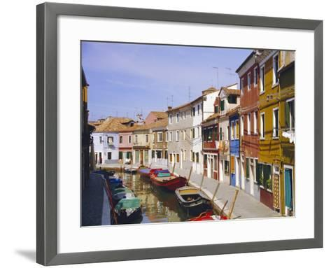 Canal in Burano, Venice, Italy-Fraser Hall-Framed Art Print