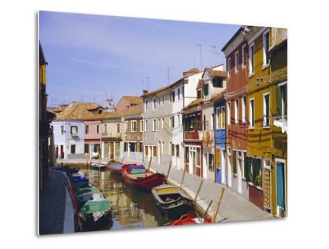 Canal in Burano, Venice, Italy-Fraser Hall-Metal Print