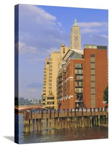 The Oxo Tower, South Bank of the River Thames, London, England, UK-Fraser Hall-Stretched Canvas Print
