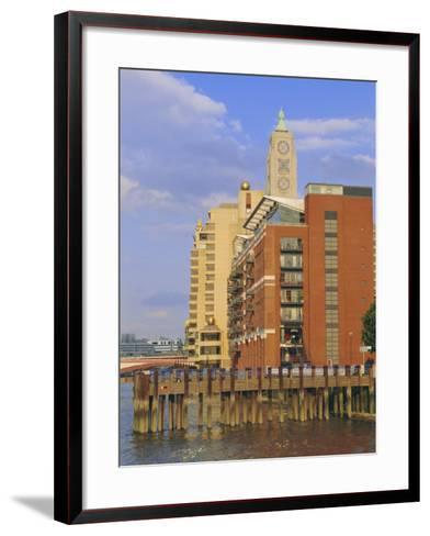 The Oxo Tower, South Bank of the River Thames, London, England, UK-Fraser Hall-Framed Art Print