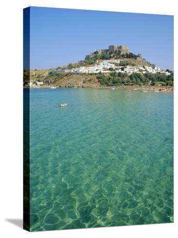Lindos, Rhodes, Greece-Fraser Hall-Stretched Canvas Print