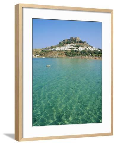 Lindos, Rhodes, Greece-Fraser Hall-Framed Art Print