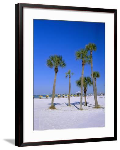 Palms and Beach, Clearwater Beach, Florida, USA-Fraser Hall-Framed Art Print