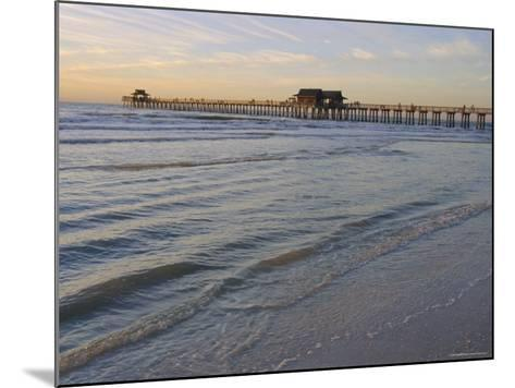 Naples Beach and Pier, Naples, Florida, USA-Fraser Hall-Mounted Photographic Print