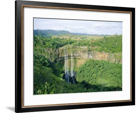 Chamarel Waterfall, Mauritius-Fraser Hall-Framed Art Print