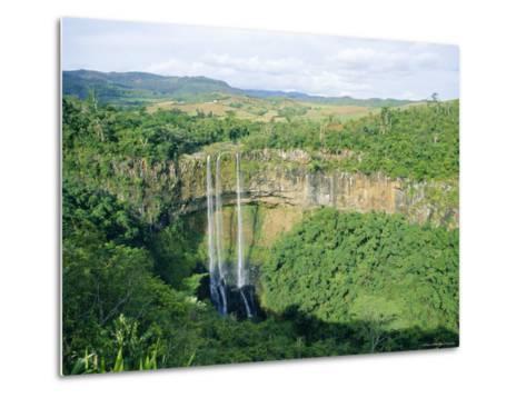Chamarel Waterfall, Mauritius-Fraser Hall-Metal Print