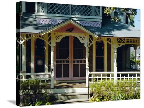 Cottage City, 19th C. Cottages, Oak Bluffs, Martha's Vineyard, Massachusetts USA-Fraser Hall-Stretched Canvas Print
