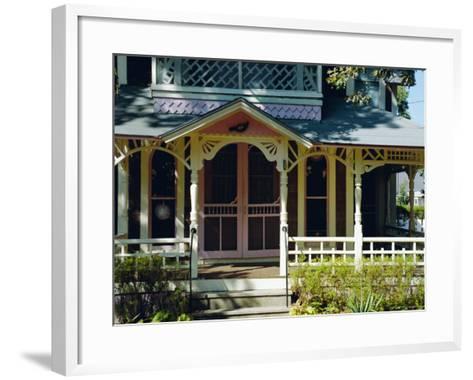 Cottage City, 19th C. Cottages, Oak Bluffs, Martha's Vineyard, Massachusetts USA-Fraser Hall-Framed Art Print