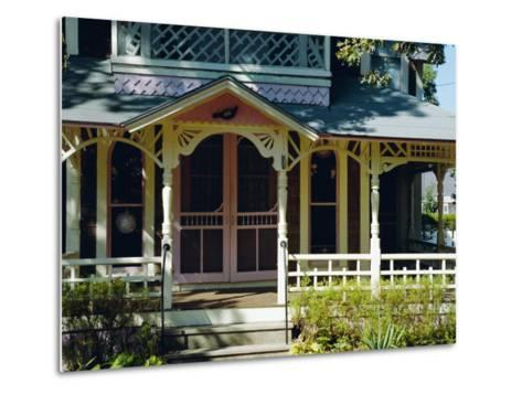 Cottage City, 19th C. Cottages, Oak Bluffs, Martha's Vineyard, Massachusetts USA-Fraser Hall-Metal Print