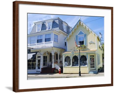 Oak Bluffs, Martha's Vineyard, Cape Cod, Massachusetts, USA-Fraser Hall-Framed Art Print
