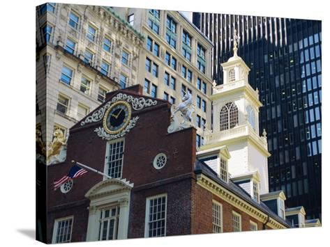 The Old State House (1713), Now the Boston History Museum, Boston, Massachusetts, USA-Fraser Hall-Stretched Canvas Print