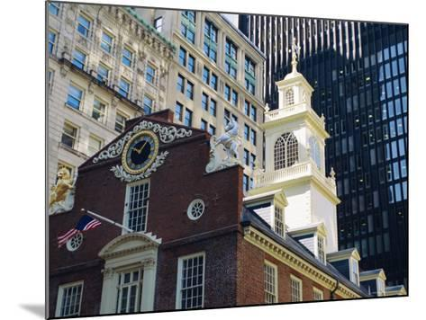 The Old State House (1713), Now the Boston History Museum, Boston, Massachusetts, USA-Fraser Hall-Mounted Photographic Print