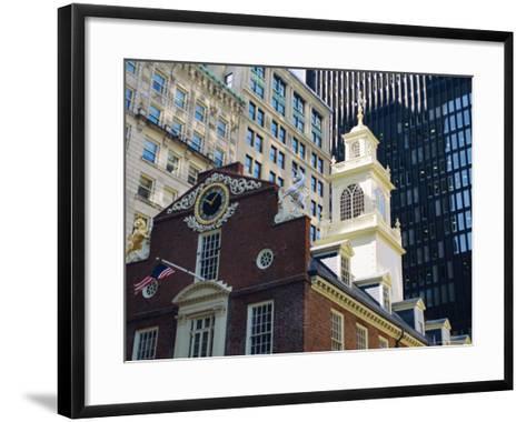 The Old State House (1713), Now the Boston History Museum, Boston, Massachusetts, USA-Fraser Hall-Framed Art Print