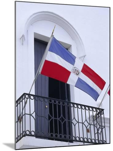 National Flag, Dominican Republic, Caribbean, West Indies-Guy Thouvenin-Mounted Photographic Print